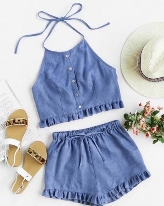 #twopeicedress #summerdress #beachdress #cottonclothes #cotton #summer #2017