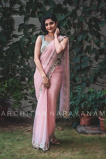 Rithika singh spotted in our float blush organza saree!! #archithanarayanamofficial #ritikasingh @ritika_offl #saree #6yardsofelegance #flowy #beautiful #pretty #embellished #tollywood #styledby @officialanahita #gorgeous #customizeyours #handcrafted #masterpiece #delicate #feelpretty #wow #designer #indianbrides #bridalcouture #bridal
