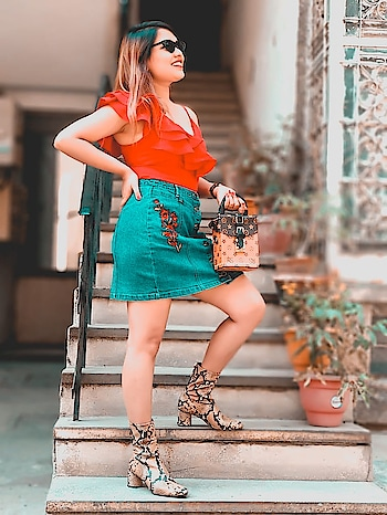 Hello Sunday Hello Sunshine 🌞 i have brought summer with me 😋 : : Bodysuit @sheinofficial @shein_in  Denim skirt @madamefashions  Boots @zara  Bag @clubfactoryapp  Sunnies @spoylapp : Search id for top - 371246 Direct link to purchase- http://bit.ly/2Fblc25 Coupon code cupidQ2 and avail ₹200 off on your purchase of ₹2000 & above , valid till june 30th : : @sheinofficial #shein #sheingals #sheinofficial #missfashioncupidxshein #missfashioncupidxspoyl #spoylinfluencer #spoyl #spoylapp #spoylstore #missfashioncupid #missfashioncupid #blogger #fashionblogger #indianblogger #shubhiPrakash #outfitoftheday #fashionista #fashioninspo  #delhiBlogger #lifestyle #fashion #beauty  #ootd #potd #onlineShopping #shopaholic #slayStylish #jharkhandblogger #indianfashionblogger #spoylapp, #spoyl , #spoyltbrat
