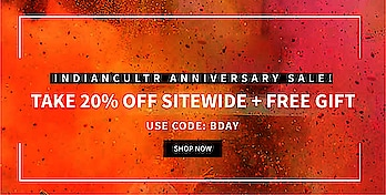 Indiancultr #Anniversary #Sale: Take 20% off sitewide plus #free #gift! Use code: BDAY Shop now: https://indiancultr.com/# #india #makeinindia #offer #discount #love #beautiful #wow #amazing #incredibleindia #celebrate #party #onlineshopping #convenient #anniversarysale #birthday #returngifts #loyalcustomers