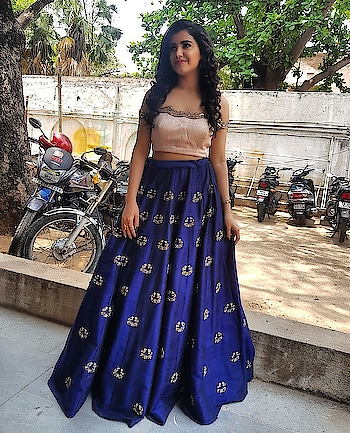 Malvika Sharma spottted in one of our signature attire for her movie promotions!  #archithanarayanamofficial #tollywood #malvikasharma #lehenga #orbofnight #beautiful #stylish #stunner #gorgeous #pretty #embellished #movies #promotions