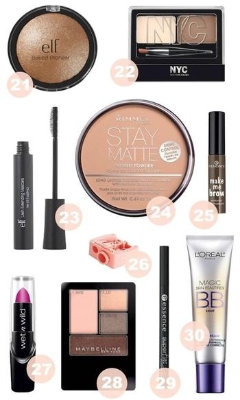 best makeup products under 5 $