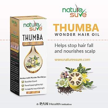 Nature Sure Thumba Wonder Hair Oil. Buy www.naturessure.com, amazon, flipkart. #health #hairgrowth #natureswonder