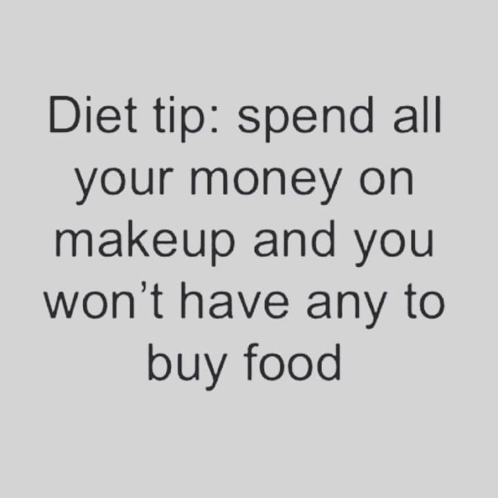 This is for me - Diet tip😉 Spend all your money on Makeup and You won't have to buy Food 🤣🤣 . . Goodnight my #instafamily Hope Your First Day of the Year was good.. 😋😊🎊🎉🎈✨😍 . . . . . . . . . . . . . . . . #funnyquotes #makeupquotes #makeupquoteoftheday #diet #money #firstdayoftheyear #2018 #january2018 #newyear #newyear2018 #mumbaibeautyblogger #mumbai #Mumbaiblogger #bangaloreinstagrammers #bangalorebeautyblog #bangalorebeautyblog #mumbaiinstagrammers #indianmakeupandbeautyblogger #indianbeautyblog #indianbeautyblogger #goodnight #stayblessed