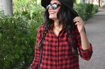The boho vibe!! Check on Instagram and Facebook page  #ithinkboho #fashionblogger #bohostyle #bohochic #bohemian #indianblogger #fashion #western #love #hat #floppyhat #shirtdress #checkeredshirt #styleblog #instagram #ootd #photooftheday #aboutalook #dress