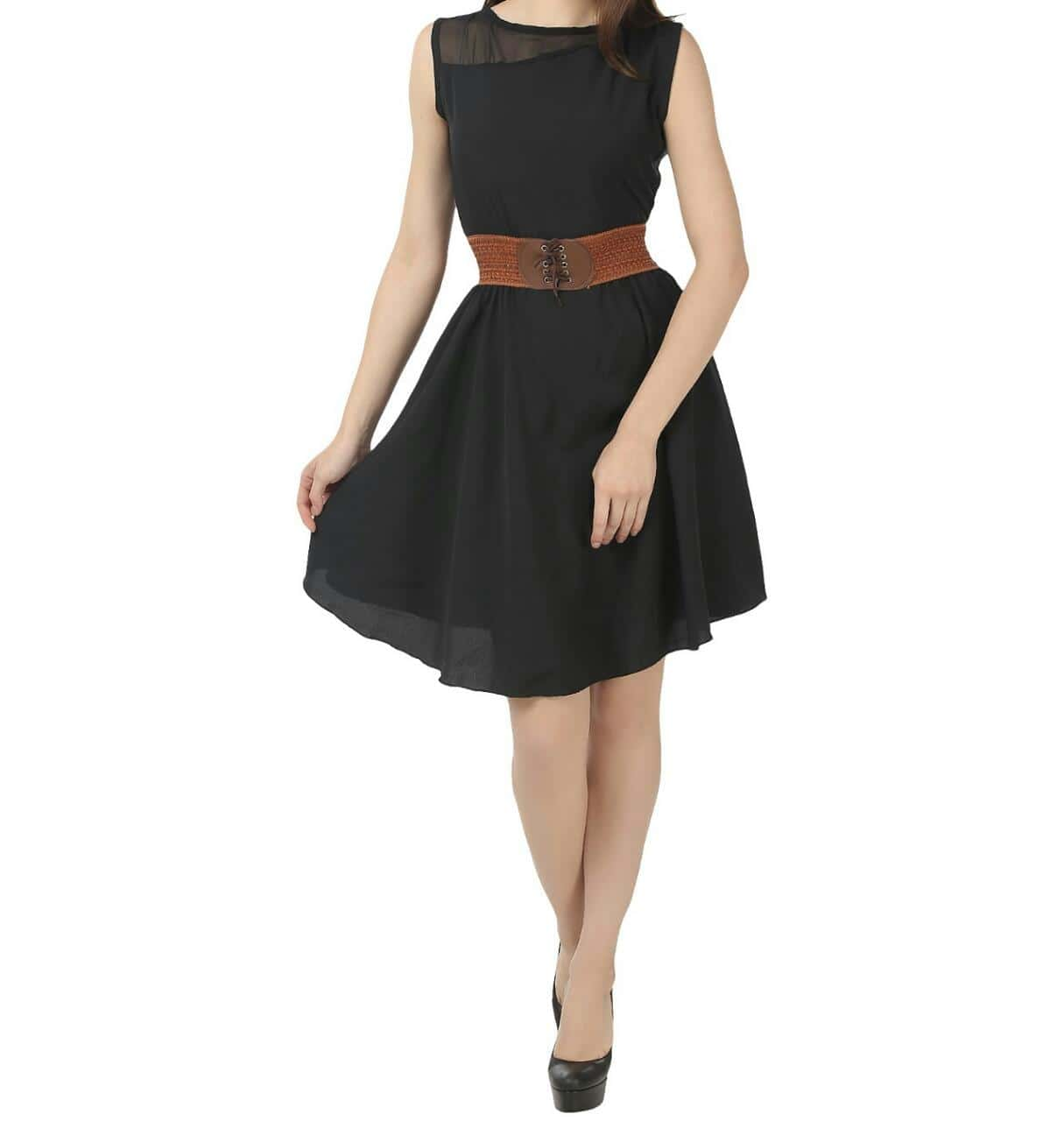 *WOMEN STYLISH BELT DRESS* 👗   fabric Creap With Gorjet  Back zep  Waist Stylish belt   Size : M : L  Bust : 32 up to 36  Lanth : 39  Price : 480/💰   Siping Extra..   Unlimited stock bulk oder Now