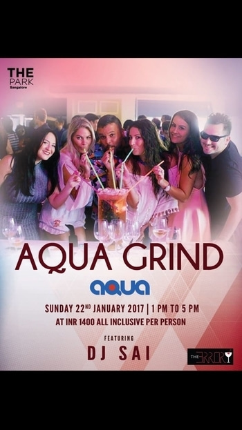 Join us @AQUA, THE PARK HOTEL for the first ever pool brunch party in 2017. Entry fee:1400 INR includes unlimited food and drinks For more information,call us:8281626727/9744775666  #party #partying #fun #instaparty #instafun #instagood #bestoftheday #crazy #friend #friends #besties #guys #girls #chill #chilling #kickit #kickinit #cool #mgroad #memories #night #smile #music #outfit #funtime #funtimes #goodtime #goodtimes #bangalore