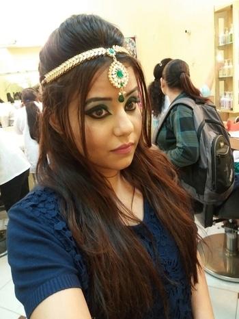 Makeup by Me... #arabic  #eye-makeup  #bold-is-beautiful  #look-gorgeous  #nudelipstick #maangtikka #glammakeuplook