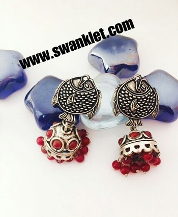 Swanket silver oxidized jhumka  fish style earrings for grils and women...  Ping for price!!!  #onlineshopping  #onilnestore  #fashion #fashionworld #trendy #instastyle #dm_for_order #swanklet #sparklingcreationz #diva #jewellery #jewelry #earrings #traditional #chic #lovely #beautiful #earringsoftheday #buyme #shopperslove#Swanklet #IamSwanklet #sparklingCreationz #sparkleme #Instamood