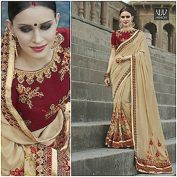 Buy Now @ https://goo.gl/3usLtW  Charming Beige Faux Georgette Designer Traditional Saree  Fabric- Georgette  Product No 👉 VJV-KESA6734  @ www.vjvfashions.com  #saree #sarees #indianwear #indianwedding #fashion #fashions #trends #cultures #india #instagood #weddingwear #designer #ethnics #clothes #glamorous #indian #beautifulsaree #beautiful #lehengasaree #lehenga #indiansaree #vjvfashions #pretty #celebrity #bridal #sari #style #stylish #bollywood #vjvfashions
