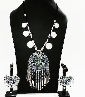 #avnicreation#bohostyle #bohojewelry #afghanjewellery #necklaceset #necklace #longchain  #pendantset #pendantchain