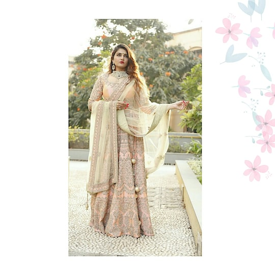 If a youthful and flirty vibe is what you're looking for, this #rentanattire lehenga is your answer!!!!!                                                                   💕 @thegulabigirl totally nailed this look.  Dont wait rentout your favorite look now on www.rentanattire.com  #peachlehenga  #indowesternstyle #reddress #dhotipants #sangeet #mehendi #indianwedding #bridesmaids #lehenga #puneblogger #fashionbloggers #instalike #instagram #rentanattire #wedmegood #fashiononrent #pune #delhi #deheradun #delhibloggers #india #indianblogger #potd #instamood