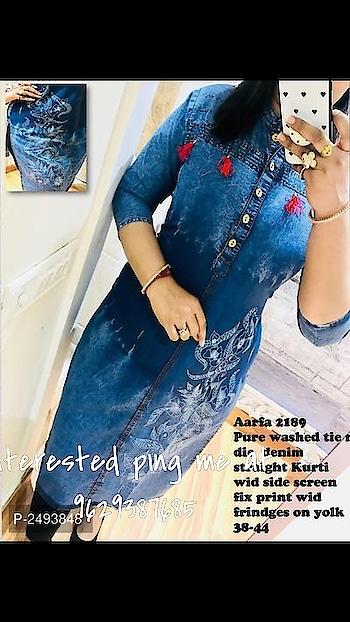 #kurtisforwomen #trendycloth #denimdress #women-fashion #exclusivecollection