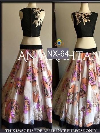 Ds no. :- nx-64 Fabric :- Net Blouse :- Velvet Ineer :- Satin Print  Work :- Multy Type :- Lehenga  Price :- 1899 + shipping free Dps