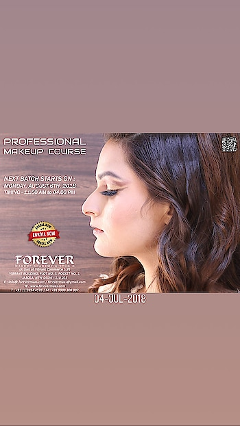 Learn the art of PRO MAKEUP COURSE  Duration - 3 Weeks | Monday to Saturday | Timing - 11:00 AM to 04:00 PM  Three Weeks Makeup Course consisting of lectures, theory and practical instructions with hands-on training, assignments and Certification.   Product exposure of leading international brands like HUDA Beauty, Anastasia Beverly Hills, Becca, Sephora, MAC, Dior, Estee Lauder, L.A. Girl, Make Up For Ever, Kryolan, Makeup Revolution, Benefit, Chanel, Bobby Brown, Cover FX, Pro Arte, Real Technique, Tarte, Elizabeth Arden, Sea Soul, Inglot, Airbase and PAC among others.  COURSE CONTENT:  •General Hygiene Guidelines as a Makeup Artist •Color theory technique •Detailed study of different skin types •Color correction •Correcting dark circle, pigmentation and other problematic skin imperfection  •The art of proper foundation selection as per particular skin tone along with blending foundation, contour & highlighting (Cream - Powder technique) •Understanding different eyes and face shapes  •Techniques to achieve the Perfect Eyebrow shape •Eyelash Application •Smokey eyes •Jewel-Tone eyes •Glitter Application •Complete Bridal Makeup •Cut Crease technique •Mature Makeup •Working on Asian eyes •Understanding different lip shapes along with lip application •How to make lipstick last longer •Guidelines on how to start and register your career as a makeup artist   Brand Exposure:   •Iwata Airbrush Demo  •Temptu Airbrush Demo   We are located at :   https://goo.gl/maps/YLaDJ8ihAJF2  FOREVER MakeUp Academy & Studio Vibrant Building,  Plot No. 5, Pocket No. 2, Jasola, Near Apollo Hospital, New Delhi - 110 025, India  Contact Us For Registration & More Information on: M : +91 9999300997/ 9958979840  E : info@ forevermuas.com / forevermuas@gmail.com