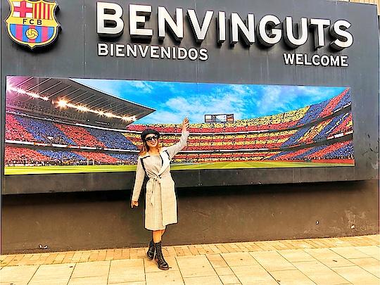 Finally Here at Football Club at Barcelona...😍😍🇰🇵 : #barcelona #footballclub #fcb #fcbarcelona #barcelonacity #footballclubbarcelona #spain #messy #barcelonagram #barcelonawithnehamalik #nehamalik #model #actor #blogger #travelblogger #luxurytravel #luxurylifestyle