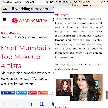 Celebrity makeupartist n hairstylist ojas rajani featured among Mumbai's top makeupartist @weddingsutra @OjasRajani  #brides #bridestobe #themumbaibride #thebridesofindia #thebridalaffair #bridalaffairindia #makeupartistworldwide #celebritymakeuparrist #theweddingaffair #femina 