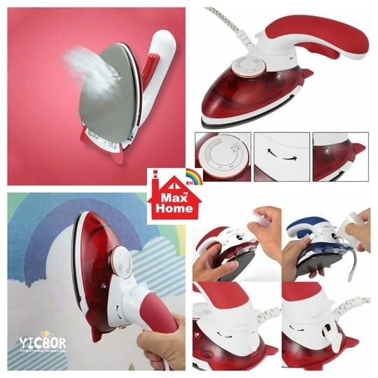 Uh Hot Portable Electric Mini Clothes Steam Iron With 180 Degree Rotatable For Home Travel Handheld Garment Steamer Brush rate. 999/-+$