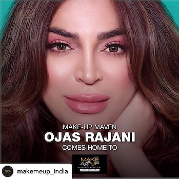 Celebrity makeupartist n hairstylist ojas rajani to rock @makemeup_india on 21 st dec 2019 in delhi