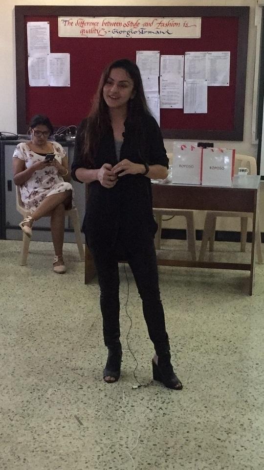 Shalini Thakur at B.D. Somani Institute #roposo #roposodesignbox #fashiondesign #styling #fashion #workshop
