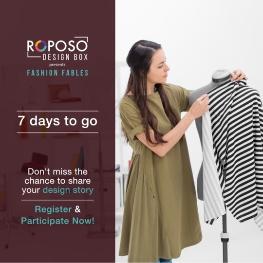 Tick Tock ⏱  Last day to submit your entries for Roposo Design Box - Fashion Fables: 30th April, 2017