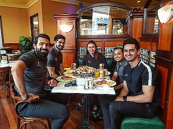 Power Breakfast with the Powerful Team !! #european #europeanstyle #breakfast #dome #1team #fit #fitness #fitnessfirst #official #adidas #nike #fitnessmodel #achievement #powerful #teamspirit #travel #cafe #mensfashion #roposo #roposo-style #instamoments #colorful #eatclean #healthybreakfast #smile #dxb #dubailife #uae #sajansinghrawat