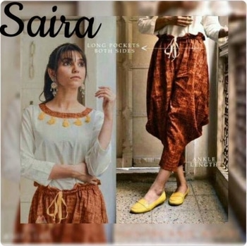 """FABRIC - 100 % KHADI LINEN best and rising fabric of future💕 👉🏻sizes for pants  m-for waist 26""""-32"""" xl-for waist 34""""-40"""" Xxl for waist 40-44 Xxxl for waist 44-46 Pants size vary from 33"""" to 35"""" as per pattern 👉🏻tops length and sizes  m-36"""" xl-40""""  Xxl 42  Xxxl 44 Price 1350/- per pair Plus SHIPPING ready Dm for book orders📥 @rawkingrubss32d560d7 #palazzopants #tops #newstyle #newdesign #casualwear #designer #designs #stylish #styleblogger #fashion #fashionblogger #fashiondiaries #fashiondesigner #trending #trendingnow #trendsetter #pictureoftheday #blessed #soroposo #roposolove #happiness #ordernow🤗 #orderonline #shop #dmfororders📥"""