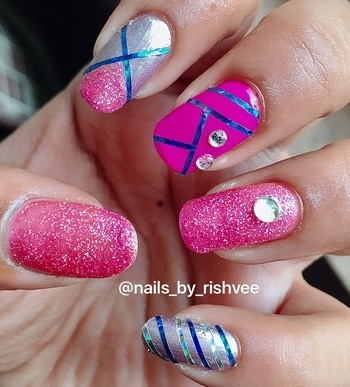 Easy and simple nailart design  Don't forget to like and follow @nails_by_rishvee Follow me on Instagram @nails_by_rishvee