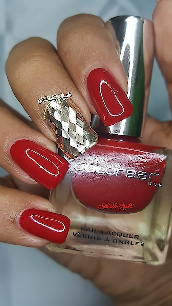 ColorBar - Luxe Nail Lacquer - All Fired up - CNL083 . .  #luxenaillacquer #colorbarluxe #colorbarallfiredup #allfiredup #allfiredupcolorbar #colorbarluxenaillacquer #colorbarnailpolish #colorbarnaillacquer . @lovecolorbar . @colorbar  . ☄️ New Professional Formula in a New Luxury Glass Bottle - Love the New Bottles 😍 ☄️ Love the Brush specially the round cut and fan shape makes application super easy and convenient ☄️ Non-Yellowing ☄️ Chip Resistant ☄️ Non- Carcinogenic ☄️ Won't transfer on the Nail bed ☄️ Lasts for a week  Most of all ... ☄️ 100% Cruelty Free ☄️ #lovecolorbar #colorbar #colorbarnails  #redhotnails #rednails #rednailpolish #lovecolorbarindia #NailingMyNails #nailsoftheday #nailsofinstagram #nailpolishswatch #nailpolishblog #nailpolishblogger #polishswatch #nailsonfleek #colorbarcosmetics #colorbarindia #gellikepolish #colorbarnailpolish #colorbarnaillacquer #nailsonfleek #nailie #nailstagram #nailiesbyarushi 💚