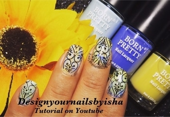 Smooshy Nail Art💙💛💙 #designyournailsbyisha #ishanailart #bornpretty #naildesignideas #nailartforbeginner #smooshynails #easysmooshynails #lacenails #glamnails #nailart #floralnails #roposo #howtodosmooshynailart #nailarttutorial #nailartvideo #nails #sgblogger #partynails #nailblogger#youtubevideo #roposonails #roposolove #roposofashion #nailfashion IG:design_your_nails_by_isha 💖