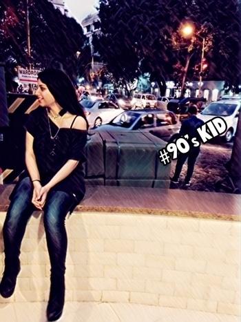 #blueandblack #black #citylights #90skid #streetstyle #mystylecheck #funwithfashion