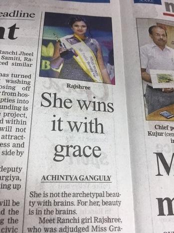 Subtitle#winner#Miss#Beauty#Queen#India#2017