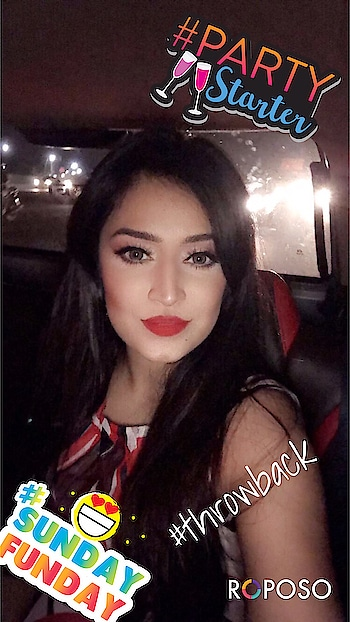 Hello lovelies! It's selfie Sunday time! 😁📸 This is from my birthday evening way back in July! What a pleasant night that was 💃🏻Thank you to my sister for this photo! Hope you all have a wonderful day! ❤  P.S. I'm wearing Jenith natural gray contacts from @olens.india in this photo. For full details of the makeup look scroll through my previous posts! 😘  #bbloggeruk #mumbai #indianblogger #indianmakeupartist #love #igers #roposomakeup  #wakeupandmakeup #selfiesunday #happy #sunday #selfie #selfiequeen #makeupaddict #sundayfunday #makeupjunkie #domingo #red #olensindia #roposo #ootd #motd #potd #mua #redlips #bdayselfie #carselfie #jenithnaturalgray