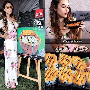 Woohoo 🙌😍 Super Amazing News for all the Sushi Lovers .... @wok_express is Celebrating International Sushi Day with a Week Long Celebration From 12t-18th June , featuring Freshly Crafted Some Mouthwatering Veg & Non Veg Sushi 🍣 Rolls for this special Occasion 😍😍 : So what you Waiting For, Go & Enjoy #delicious #sushi at #wokexpress Near you 🍣😍😍🍣and hurry coz festival is on only till 18th June 👯♂️👯♂️🙌 : #wokexpress #sushi #internationalsushiday #sushifestival #sushilover #yummyintummy #sushisushi #yay #foodtasting #sushiporn #yum #foodporn #foodblog #foodblogger #nehamalik #model #actor #blogger #xoxo