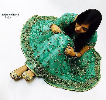 ♥️A Wedding Dress is both an Intimate and Personal for a Women- it must reflect the Personality & Style of Beautiful 😍Bride.😎 Style your Bridal Dress with Ethnic look of Punjabi jutti only @www.punjabijuttistore.com   #Punjabijuttistore #punjabijutti #jutti #khussa #mojari #footwear #weddingseason #bridemade #groommade #casual #bridetobe #indianwear #ethniclook #indianbride #worldwide ✈️🌍 #makeinindia #punjabiwedding #swagycouples #punjabijodi #blog #bloggers #instapic #instapost #instalike #india #shopnow #bebeautiful #goethnic 💫