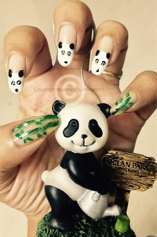 Love ❤️ for Panda 🐼  #nailart #nail #nailartaddicts #nailcolor #nailartaddicts #nailartfun #nail-designs