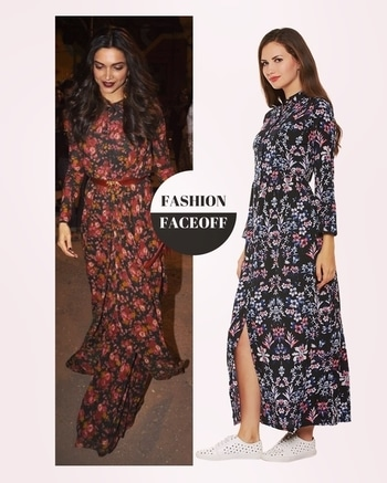 This #Perennial #Floral #Shirt #Maxi #Dress #boasts a #classic #sense of style with #sophisticated #taste. It has a shirt dress #construction with a band collar #detail.  #deepikapadukone #fashion #style #look #luxury #aboutalook #bollywood #ootd #lotd  #IKnow #AW2017