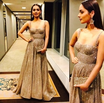 Manushi Chillar for #filmfare Glamour and style awards.  Outfit: Falguni and Shane peacock. #designerwear #manushichillar #filmfareawards #gowns #falguniandshanepeacock #awardnight #topnotch #filmistaan