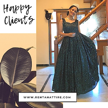 You can have anything you want in life if you dress for it.  How ravishing @varshu_2611 is looking in this bottle green sequin gown.  Rent this look at our stores or book online at www.rentanattire.com  #rentanttire #sustainablefashion #makeinindia #fashionrevolution #rentalfashion #whybuywhenyoucanrent #onlinestore #fashionstatement #designerwear #rentthelook #fashionstatement #rentisthenewbuy #happyclient #raahappyclient