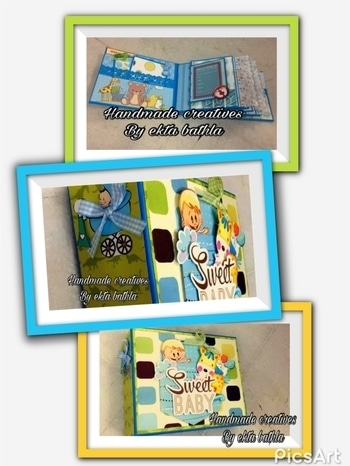 #BABY Boy ALBUM #ITS A Boy all the young mothers out dere express yourself to your tinytots through dese designer handmade albums which are invaluable !!#scrapbooking#creativityforlife #scrapbook#handmadecreativesbyektabathla #priceonrequest #ordernow 😍😍❤️ #watsappme for video 09818491504#roposo #roposostore #roposostory #roposome #thebazaar #buynoworcrylater  #babyalbum