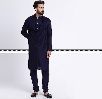 Still continuing to stand at the forefront of men's fashion; this Stylish Shawl Neck Teal Men's Kurta with Teal Churidar by I Know is edgy, elegant and masculine with focus on attention to detail. This Rayon Kurta is tailored in band collar with white and gold buttons embelished on the placket and stylized with a drape which runs like a shawl around the neck. This Kurta comes with a Teal Churidar by I Know.  Shop Link in Bio  #IKnowCoverMen #CowlNeckKurta