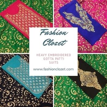 Chanderi Silk Gotta Patti Suit  Available at www.fashionclozet.com  Watsapp - +91 9930777376 Email -  info@fashionclozet.com Or DM for enquiries. #indianwear #indianfashion #indianwedding #instagram #adorable #beautiful #bollywood #makeup #mumbai #indianstyle #desi #punjabisuits #indowestern #bridalsarees #designersaree #designerwear #saree #punjabiweddings  ##gottapatti #blogger #fashionblogger #embroidery #dressmaterial #weddingphotographer #indianweddingbuzz #bridallehengas  #bridesmaids  #saree #sari