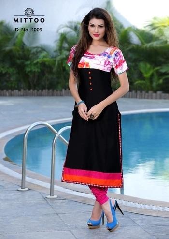 Mittoo Kurti Pankh vol 1 by khantil   Brand : Mittoo Catalog : Pankh Vol :1 Design : 9 Size : L (40) , XL(42), XXL (44) Fabric : Heavy Rayon Length : 42  Rate : Full set Rs 2835 (Rs 315 / per design) For order whatsapp or call on +91-9925633987  http://www.ekhantil.com/supplier/mittoos-catalog-pankh-vol-1/ #kurtis