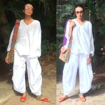 Desi on my mind 🍁🍁 outfit...            .                                     .                                                     .                                                          #Nicobar #goodearth #nofilter #naturalight #linen #linenpajama #linenkurta #pajamas #pajamaday #cottonkurta #kurta #jholas #nosering #Nath #comfyclothes #indian #clothes #clothesporn #summer #summerfashion #whiteaddict #whiteday #palomapicasso #vintagestyle #stevemadden #stevemaddenslippers #embroideredbag #kashmiribag #indian #desime #desiatheart❤️ #lovingit #lovemylife #indiancotton #incredibleindia #moments #mood #happyme #happiness #happyporn #moodporn #flyinghigh #loveandlight 😘😘