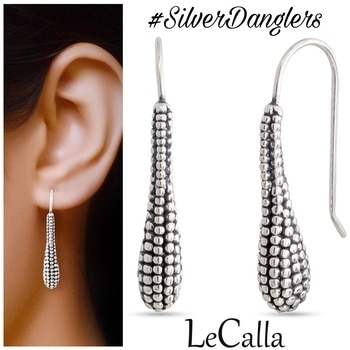 Show your urban and trendy side with these silver Oxidized earrings.  DM for more details   #LeCalla #oxidised #silverdanglers #earrings #newin #style #classy #winterjewellery #giftingideas #instajewellery #silver #silverlove #oxidisedjewellery #attitude #antiquelook #newcollection #latestfashion #roposolove
