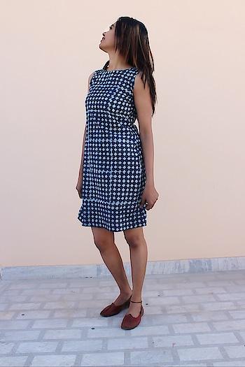 Dabuprint #dabu dress#checks#shortdress#summerdress#summerfashion