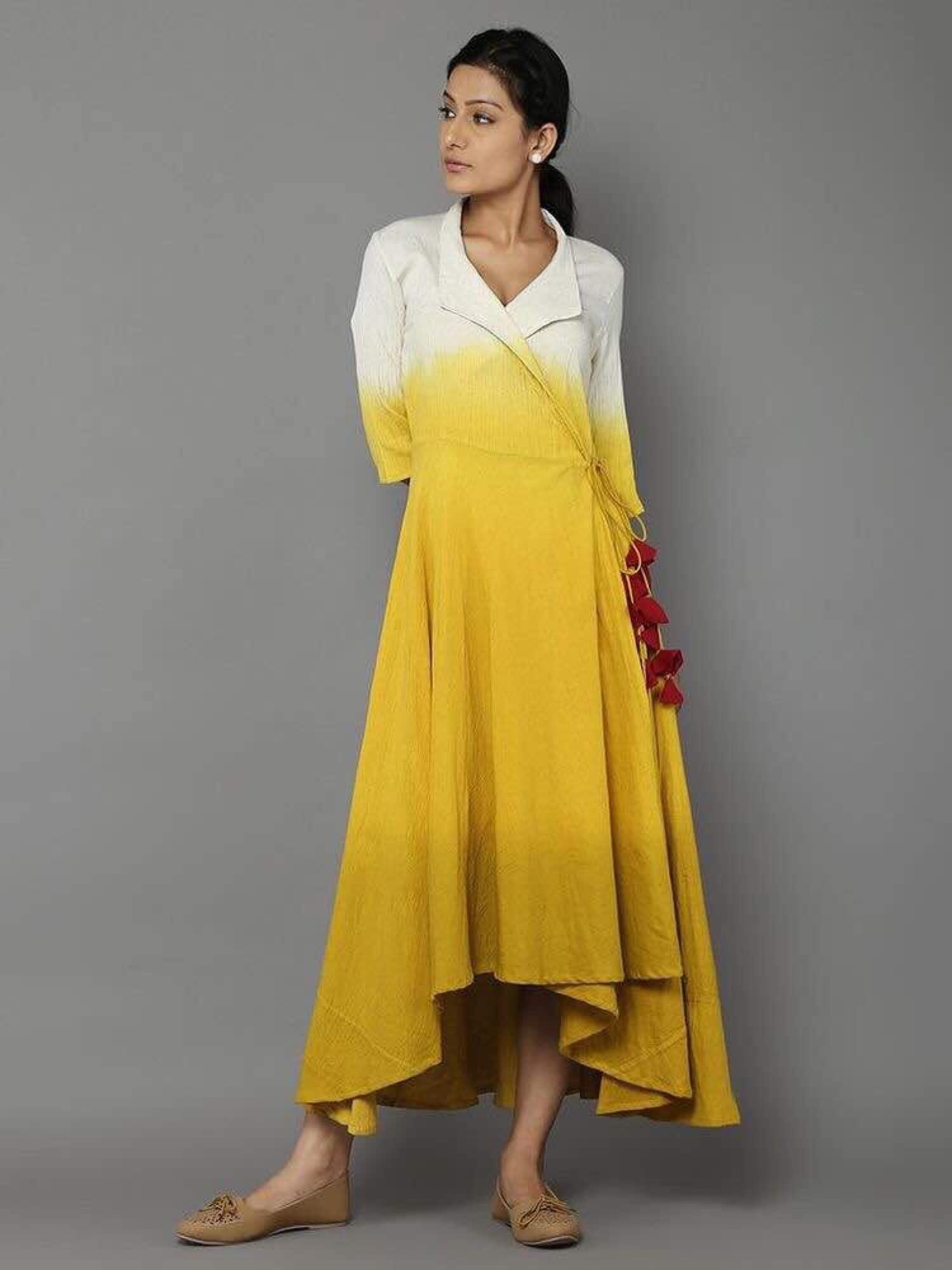 Ombré Angrakha Dress #dresses