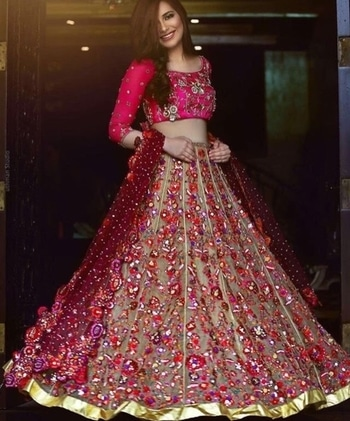 #pinkloverforever #hot-pink-reception-lehenga #orange_is_the_new_trend #shararastyle #twirlaround #happybridesaretheprettiest #ethnicdiaries  #ethnicdresses