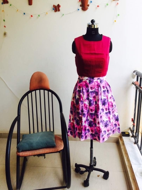 Pink Floral Skirt. Cotton #skirts