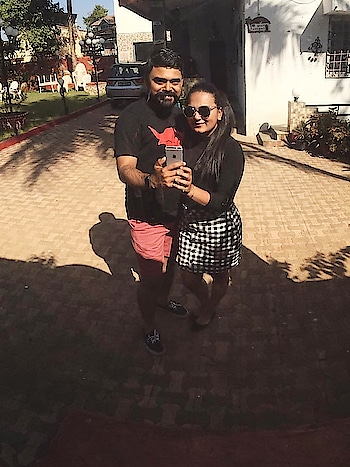 Greetings from #Lonavala! . Keep a watch on us to know more about where we stayed, what we ate and what we saw in and around Lonavala. . #CoupleTravel #OOTD #SahyadriHills #HillStation #MrAndMrsTrell #Wanderlust #WegoIndia #TripotoCommunity